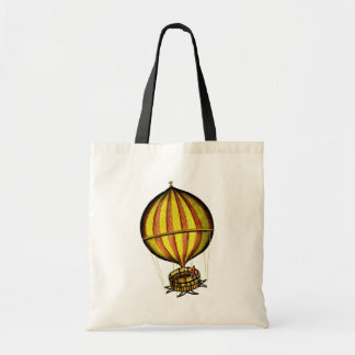Hot Air Balloon Yellow and Red Tote Bag