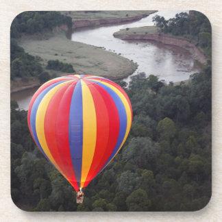 Hot-Air Ballooning over the Mara River Beverage Coasters