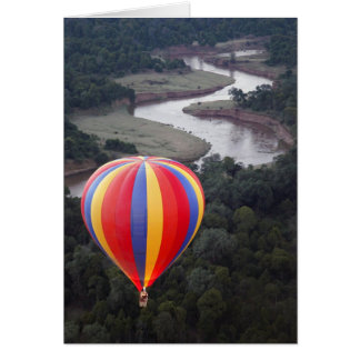Hot-Air Ballooning over the Mara River Card