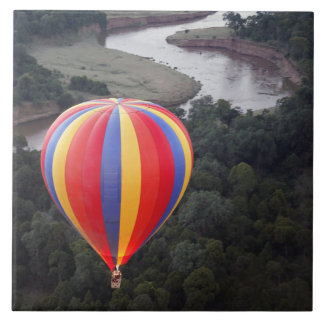 Hot-Air Ballooning over the Mara River Tile