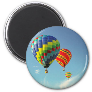 Hot Air Balloons 6 Cm Round Magnet