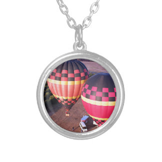 Hot Air Balloons 6 Round Pendant Necklace
