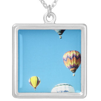 Hot Air Balloons (6) Silver Plated Necklace