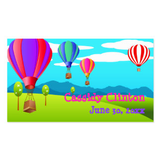 Hot Air Balloons 6th Birthday Party Favor Tag Pack Of Standard Business Cards
