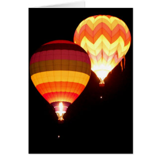 Hot Air Balloons at Night Card