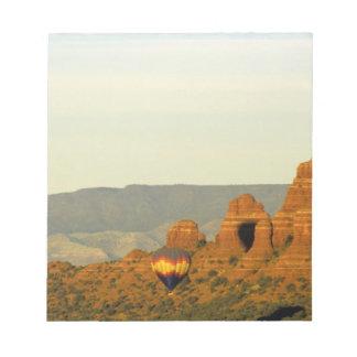 Hot Air Balloons at Sedona, Arizona, USA. Notepad