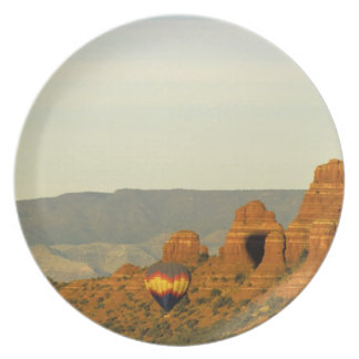 Hot Air Balloons at Sedona, Arizona, USA. Plate