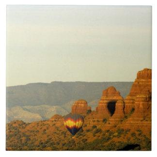 Hot Air Balloons at Sedona, Arizona, USA. Tile