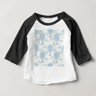 Hot air balloons blue nursery home decor wall art baby T-Shirt