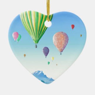 Hot Air Balloons Christmas Ornament