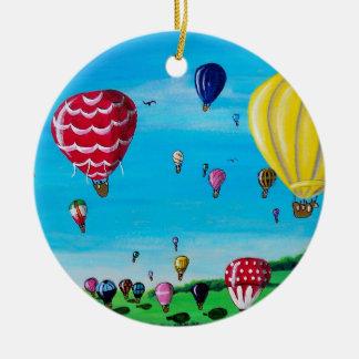 Hot Air Balloons Christmas Ornament