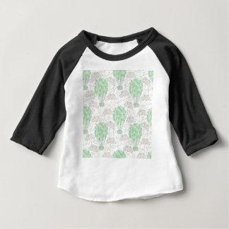 Hot air balloons green nursery decor art baby T-Shirt