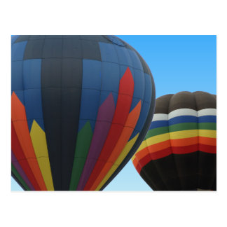 Hot Air Balloons In Flight Postcard
