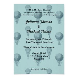 """Hot Air Balloons 5"""" X 7"""" Invitation Card"""