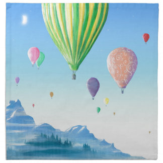 Hot Air Balloons Napkin