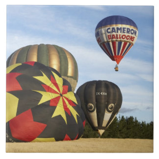 Hot Air Balloons near Wanaka, South Island, New Large Square Tile