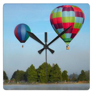 Hot air balloons over a lake,  NZ Clock