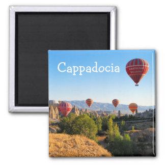 Hot air balloons over Cappadocia Square Magnet