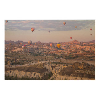 Hot Air Balloons Over Cappadocia Wood Print