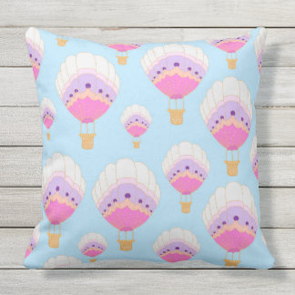 Hot Air Balloons, Pink Cushion