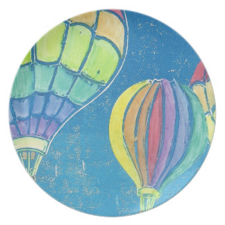 Hot Air Balloons Plate