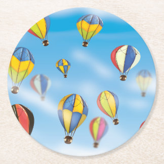Hot Air Balloons Round Paper Coaster