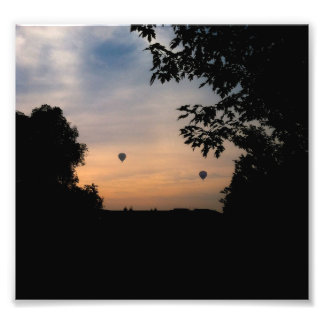 Hot Air Balloons Sunrise Photo Art