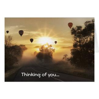 Hot Air Balloons Thinking of You Greeting Card