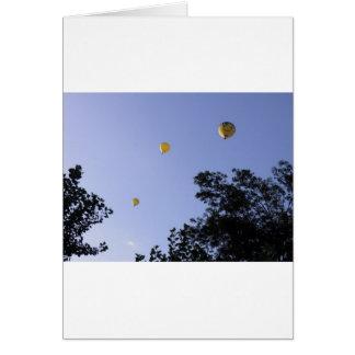 Hot Air Balloons Through The Trees Card