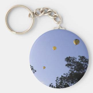 Hot Air Balloons Through The Trees Key Ring
