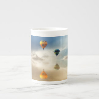 Hot Air Balloons Water Reflection Tea Cup