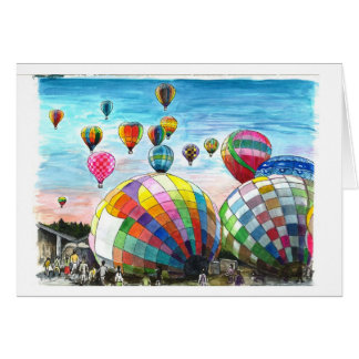 Hot Air Balloons with Dreams Card