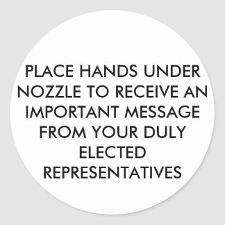 HOT-AIR HAND-DRYER STICKERS