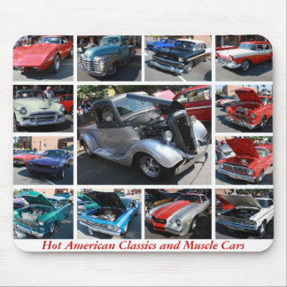Hot American Classics and Muscle Cars 16 Mouse Pad