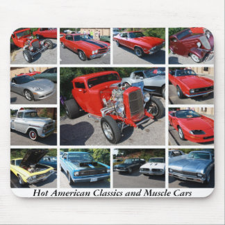 Hot American Classics and Muscle Cars 19 Mousepads
