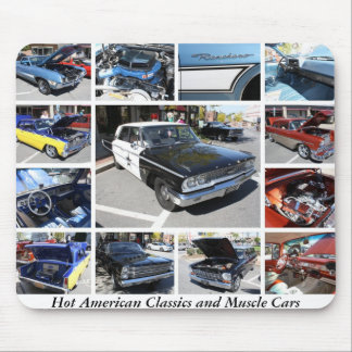 Hot American Classics and Muscle Cars 21 Mousepads