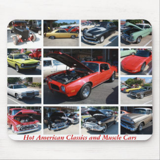 Hot American Classics and Muscle Cars 24 Mousepads
