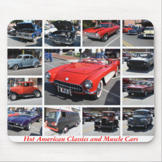 Hot American Classics and Muscle Cars 3 Mouse Pads