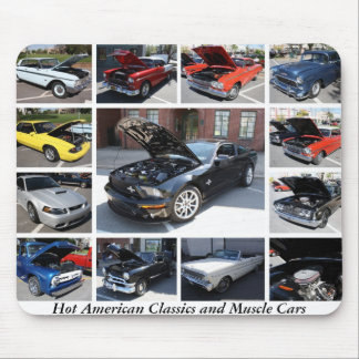Hot American Classics and Muscle Cars 4 Mousepads