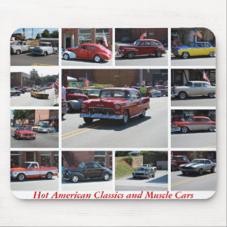 Hot American Classics and Muscle Cars 5 Mousepads
