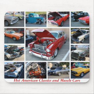 Hot American Classics and Muscle Cars 6 Mousepad