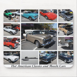 Hot American Classics and Muscle Cars 8 Mousepads
