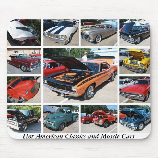 Hot American Classics and Muscle Cars Mouse Pad