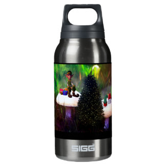 Hot and Cold Christmas Elf Insulated Water Bottle