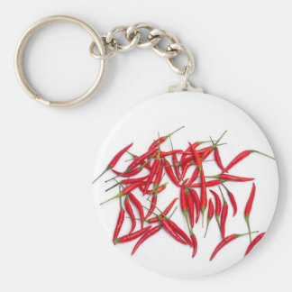 Hot and spicy chillies key chain