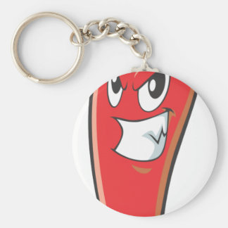 Hot and Spicy Red Chili Pepper Basic Round Button Key Ring
