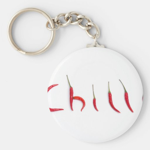 hot and spicy red chilies keychain