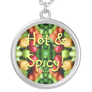 Hot and Spicy! Round Pendant Necklace