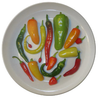 Hot and Sweet Peppers Plate
