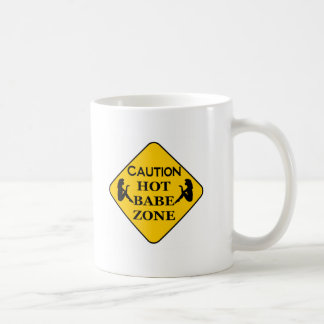 HOT BABE ZONE BASIC WHITE MUG